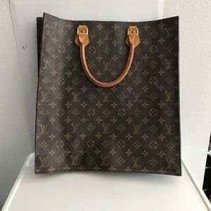 Louis Vuitton Sac Plat Handbag Monogram Satchel